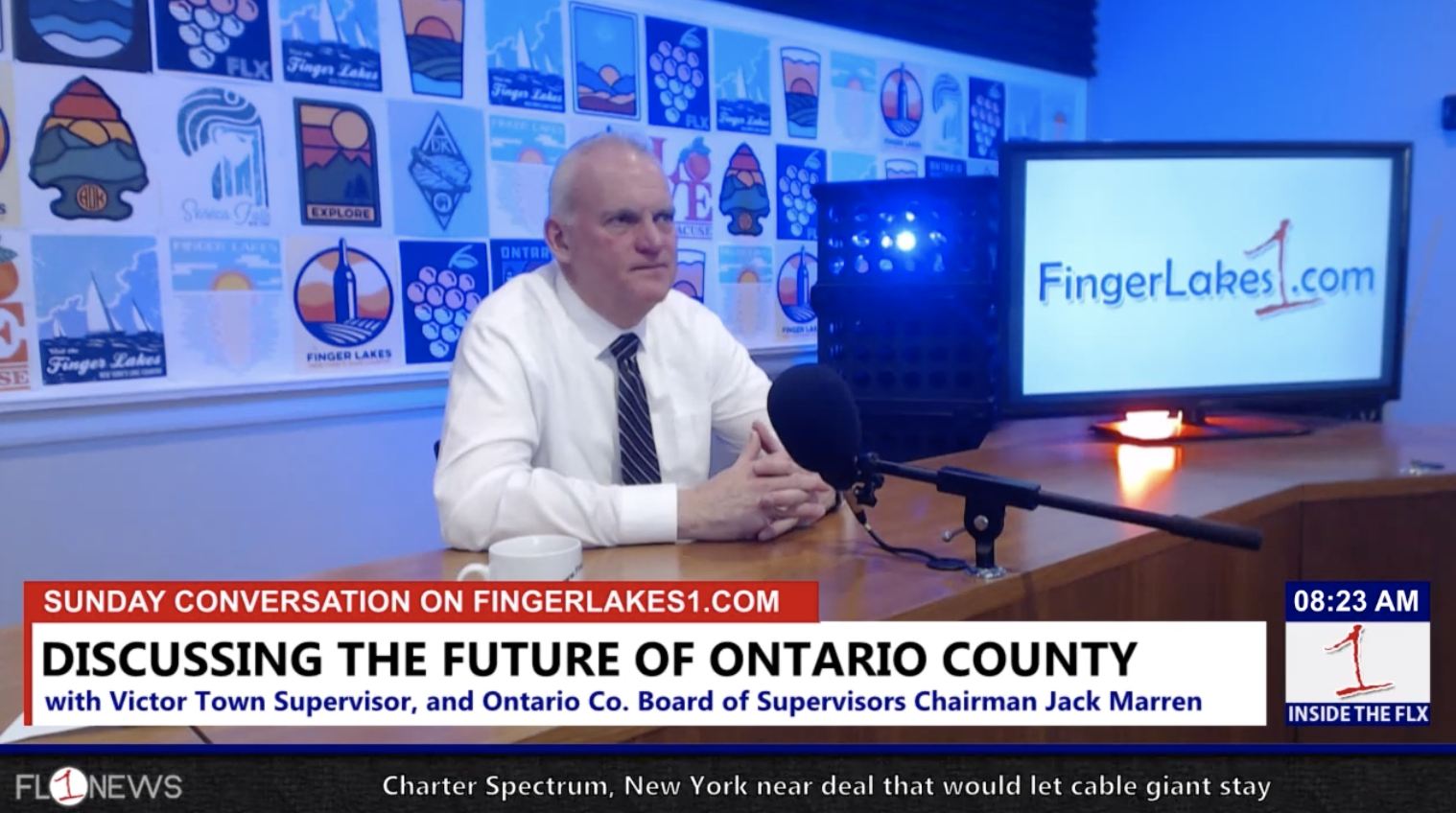 Discussing the future direction of Ontario County with Board Chairman Jack Marren .::. Sunday Conversation 2/10/19