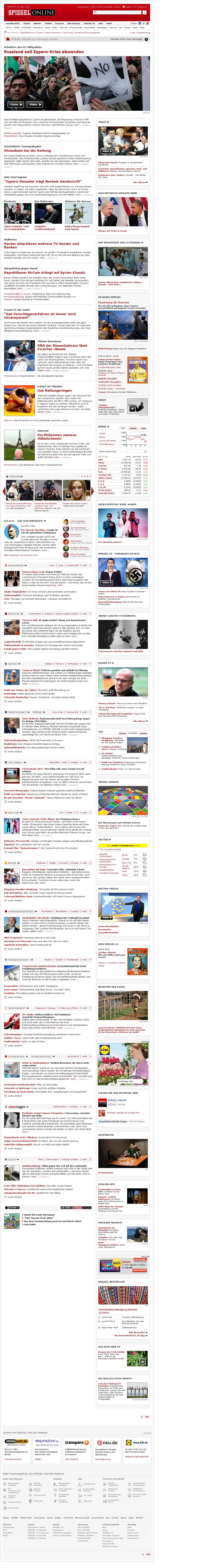 Spiegel Online at Wednesday March 20, 2013, 7:25 a.m. UTC