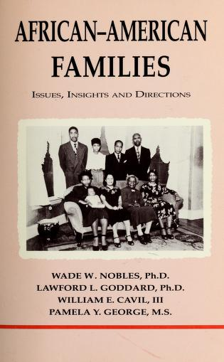 Cover of: African-American families | Wade W. Nobles ... [et al.]