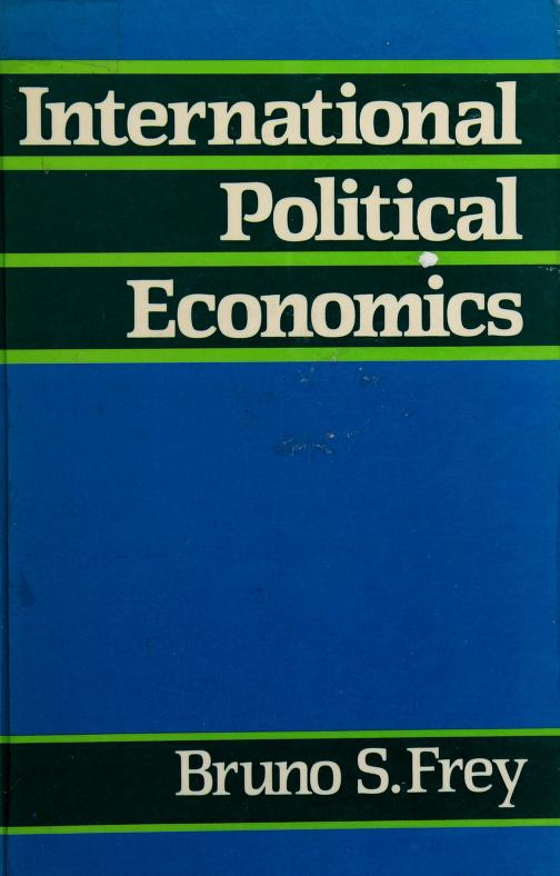 International political economics by Bruno S. Frey