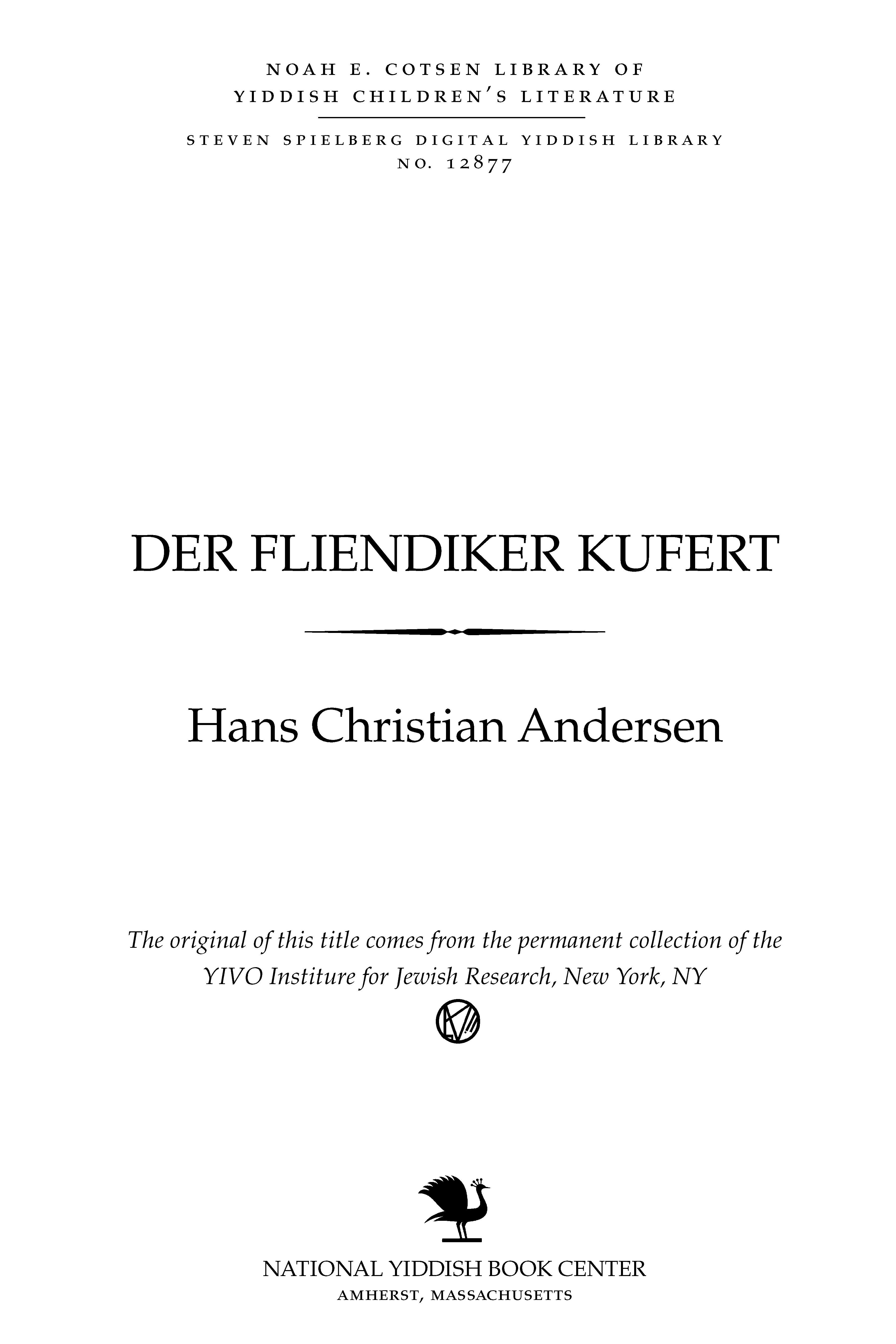 Cover of: Der flyendiḳer ḳuferṭ